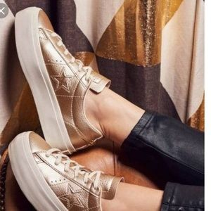 Converse Platform One Star Ox Gold Leather